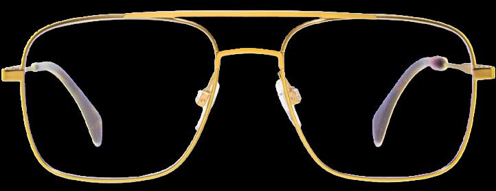 goldene Brille