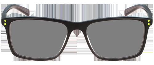 schwarze Brille Front